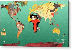 Toulouse-lautrec 1  World Map Acrylic Print by John Clark