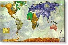 World Map Van Gogh1 Acrylic Print