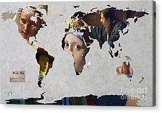 World Map  Vermeer 1 Acrylic Print by John Clark