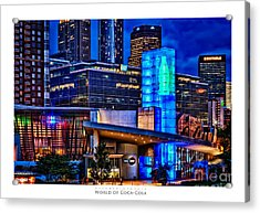 World Of Coca Cola Poster Acrylic Print by Doug Sturgess