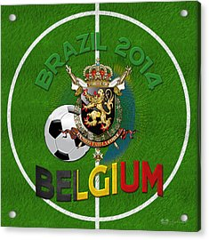 World Of Soccer 2014 - Belgium Acrylic Print by Serge Averbukh