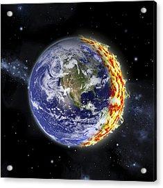 World On Fire Acrylic Print