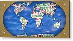 World Peace Acrylic Print by Chris Goulette
