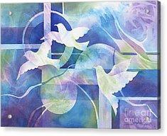 World Peace Acrylic Print by Deborah Ronglien