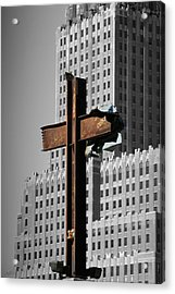 World Trade Center Cross New York Acrylic Print by Mathew Lodge