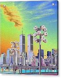 World Trade Center From Nj Terminal Acrylic Print