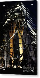 World Trade Center Museum At Night Acrylic Print