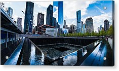 World Trade Center - North Memorial Pool Acrylic Print by Chris McKenna