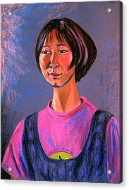World Traveler For Peace Acrylic Print by Asha Carolyn Young