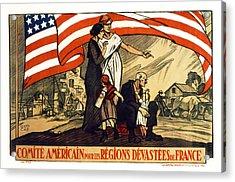 World War 1 Relief - France - 1917 Acrylic Print by Daniel Hagerman