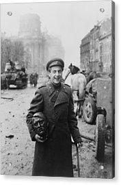 World War 2, Battle Of Berlin, April Acrylic Print by Everett