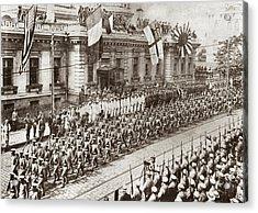 World War I Allied Parade Acrylic Print by Granger