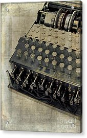 Acrylic Print featuring the photograph World War II Enigma Secret Code Machine by Edward Fielding
