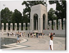 World War II Memorial - Washington Dc - 01134 Acrylic Print by DC Photographer