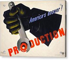 World War II Poster, 1941 Acrylic Print by Granger