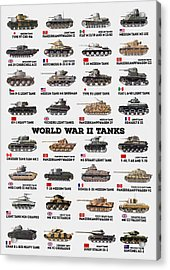 World War II Tanks Acrylic Print