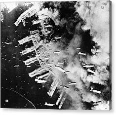 World War II: U.s. Air Raid Acrylic Print