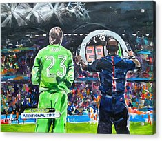 Worldcup 2014 - The Moment Acrylic Print by Lucia Hoogervorst