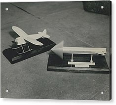 World�s First Guided Missile Control Gear Handed Over To Acrylic Print by Retro Images Archive
