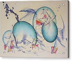 Worlds In Genesis Acrylic Print by Asha Carolyn Young