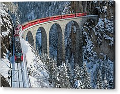 World's Top Train - Bernina Express Acrylic Print