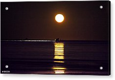 Worm Moon Rising Acrylic Print