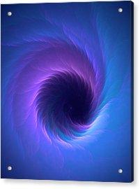 Wormhole Vortex Acrylic Print by David Parker