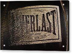 Worn Everlast Speed Bag Acrylic Print by Colleen Renshaw