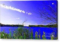 Worster Lake Autumn 2011 Acrylic Print by Tina M Wenger