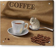 Would You Like A Cup Of Coffee? Acrylic Print by Veronica Minozzi