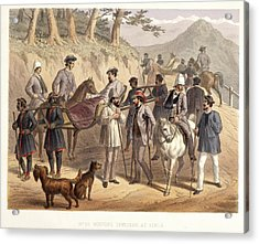 Wounded Officers At Simla Acrylic Print by British Library