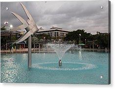 Woven Fish Fountain. Acrylic Print