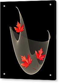 Woven Maple Leaves Acrylic Print