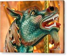 Wow Merry Go Round Seahorse Acrylic Print by Sabrina L Ryan
