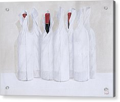 Wrapped Bottles 3 2003 Acrylic Print by Lincoln Seligman