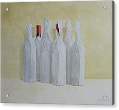 Wrapped Bottles Number 2 Acrylic Print by Lincoln Seligman