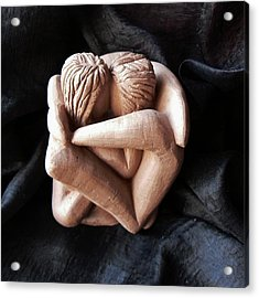 Acrylic Print featuring the sculpture Wrapped Up In Each Other by Barbara St Jean