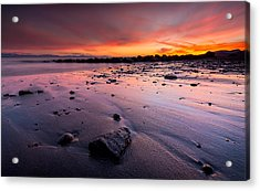 Wreck Beach Sunset Acrylic Print by Alexis Birkill