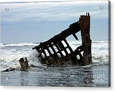 Wreck Of The Peter Iredale Acrylic Print by Chalet Roome-Rigdon