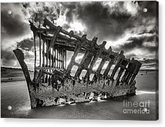 Wreck On The Shore Acrylic Print by Melody Watson