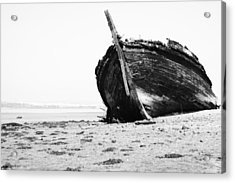 Wreckage On The Bay Acrylic Print by Marco Oliveira