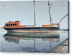 Wreck Reflection Acrylic Print