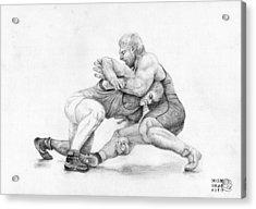 Wrestlers Acrylic Print