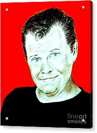 Wrestling Legend Jerry The King Lawler II Acrylic Print by Jim Fitzpatrick