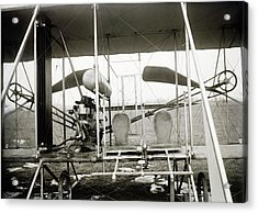 Wright Biplane Engine And Seats Acrylic Print by Library Of Congress