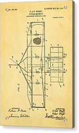 Wright Brothers Flying Machine Patent Art 2 1906 Acrylic Print