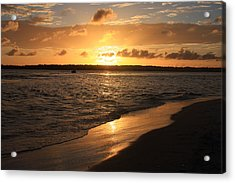 Wrightsville Beach Sunset - North Carolina Acrylic Print by Mountains to the Sea Photo