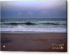 Wrightsville Sunset Waves Acrylic Print