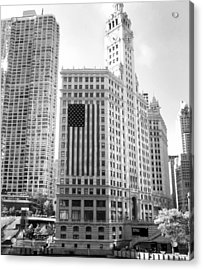 Wrigley Building Chicago Acrylic Print by Mike Maher
