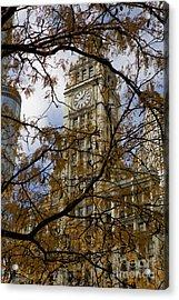 Wrigley Building In Autumn  Acrylic Print
